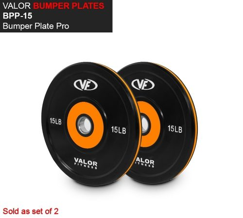 Valor Fitness BPP-15 Bumper Plate Pro 10 lbs - Set of 2