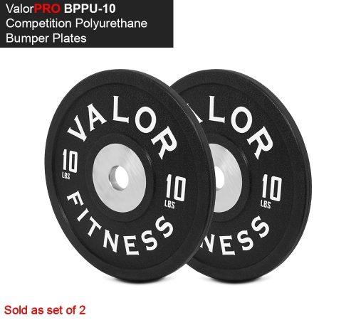 Valor Fitness BPPU-10 Polyurethane Bumper Plate 10 lbs - Black & White