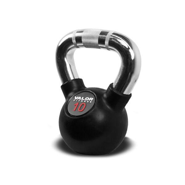 Valor Fitness CKB-10 Chrome Kettlebell - 10 lbs.
