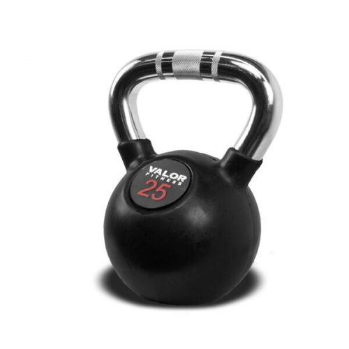 Valor Fitness CKB-25 Chrome Kettlebell - 25 lbs.