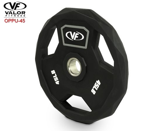 Valor Fitness OPPU-45 Polyurethane Olympic Plate 45 lbs
