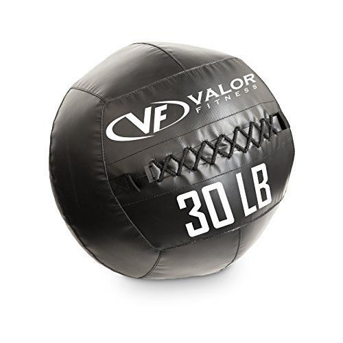 Valor Fitness WBP-30 30 lbs Fitness Pro Wall Ball Black