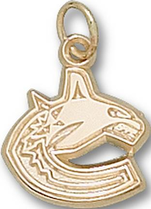 "Vancouver Canucks ""C Whale Logo"" 3/8"" Charm - 10KT Gold Jewelry"