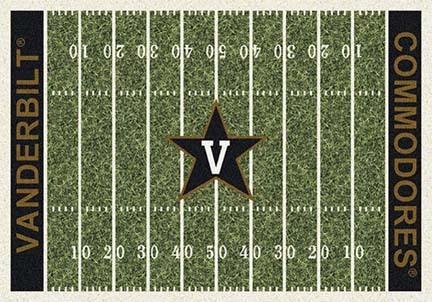 "Vanderbilt Commodores 3' 10"" x 5' 4"" Home Field Area Rug"