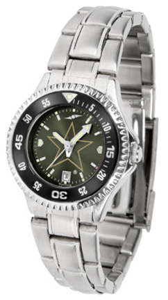 Vanderbilt Commodores Competitor AnoChrome Ladies Watch with Steel Band and Colored Bezel