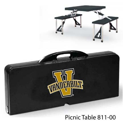 Vanderbilt Commodores Portable Folding Table and Seats