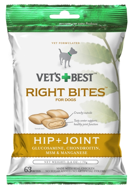 Vets Best 10351VB Right Bites Hip & Joint Dog Treats
