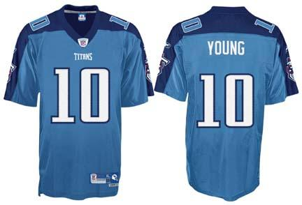 Vince Young Tennessee Titans #10 Premier Reebok NFL Football Jersey (Light Blue)