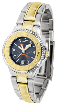 Virginia Cavaliers Competitor AnoChrome Ladies Watch with Two-Tone Band