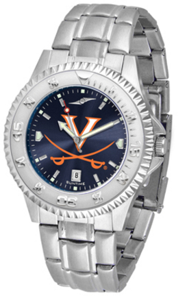 Virginia Cavaliers Competitor AnoChrome Men's Watch with Steel Band