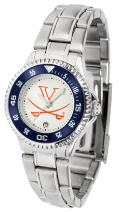 Virginia Cavaliers Competitor Ladies Watch with Steel Band