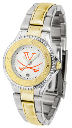 Virginia Cavaliers Competitor Ladies Watch with Two-Tone Band