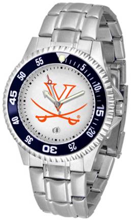 Virginia Cavaliers Competitor Watch with a Metal Band
