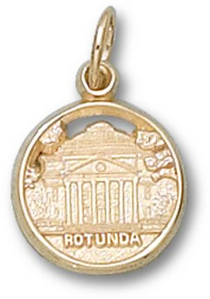 "Virginia Cavaliers ""Rotunda"" Charm - 14KT Gold Jewelry"