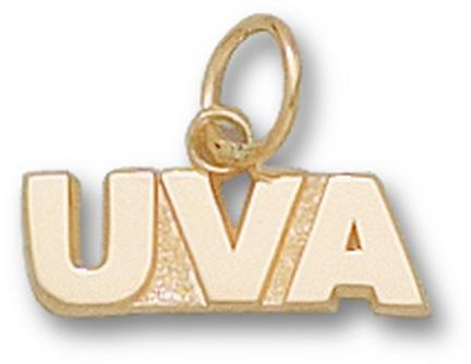 "Virginia Cavaliers ""UVA"" 3/16"" Charm - 14KT Gold Jewelry"