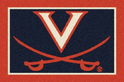 "Virginia Cavaliers White 3'10""x 5'4"" Team Spirit Area Rug"
