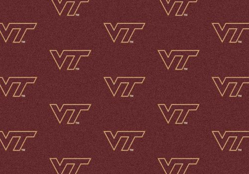"Virginia Tech Hokies 3' 10"" x 5' 4"" Team Repeat Area Rug"
