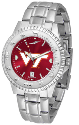 Virginia Tech Hokies Competitor AnoChrome Men's Watch with Steel Band