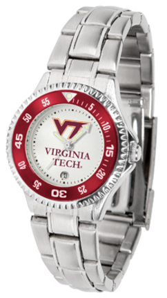 Virginia Tech Hokies Competitor Ladies Watch with Steel Band