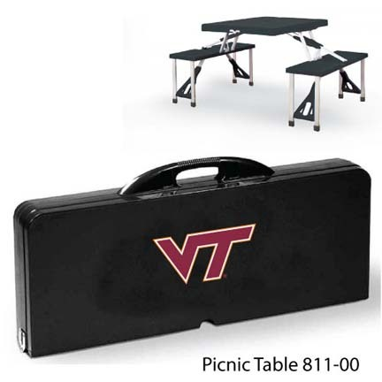 Virginia Tech Hokies Portable Folding Table and Seats