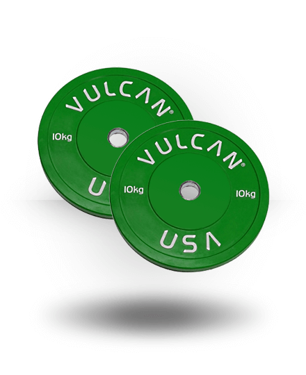 Vulcan TRAIN10-1-WS 10 kg Color Training Bumper Plates Pair