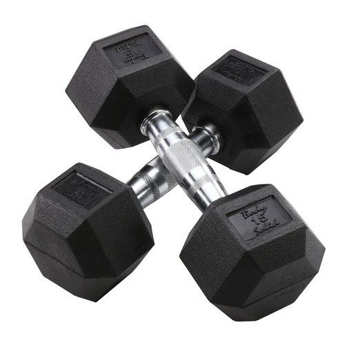 Vulcan VHEXDB75-WS 75 lb Rubber Hex Dumbbell Pair