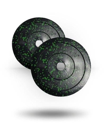 Vulcan VULCRUBCOLE25-WS 25 lbs Bumper Plates Pair - Green