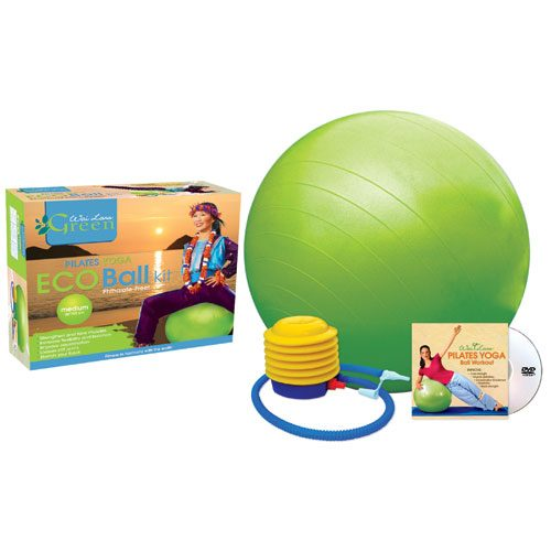 Wai Lana Productions G-1151DM Pilates Yoga Eco Ball Kit with DVD - Medium
