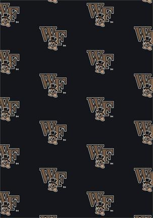 "Wake Forest Demon Deacons 3' 10"" x 5' 4"" Team Repeat Area Rug"