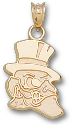 "Wake Forest Demon Deacons 5/8"" ""Deacon"" Pendant - 10KT Gold Jewelry"