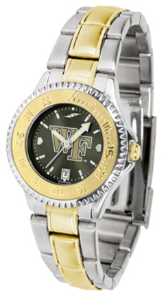 Wake Forest Demon Deacons Competitor AnoChrome Ladies Watch with Two-Tone Band