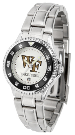 Wake Forest Demon Deacons Competitor Ladies Watch with Steel Band