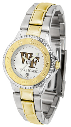 Wake Forest Demon Deacons Competitor Ladies Watch with Two-Tone Band