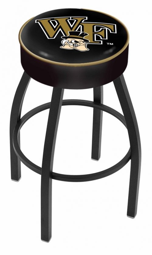 """Wake Forest Demon Deacons (L8B1) 25"""" Tall Logo Bar Stool by Holland Bar Stool Company (with Single Ring Swivel Black Solid Welded Base)"""