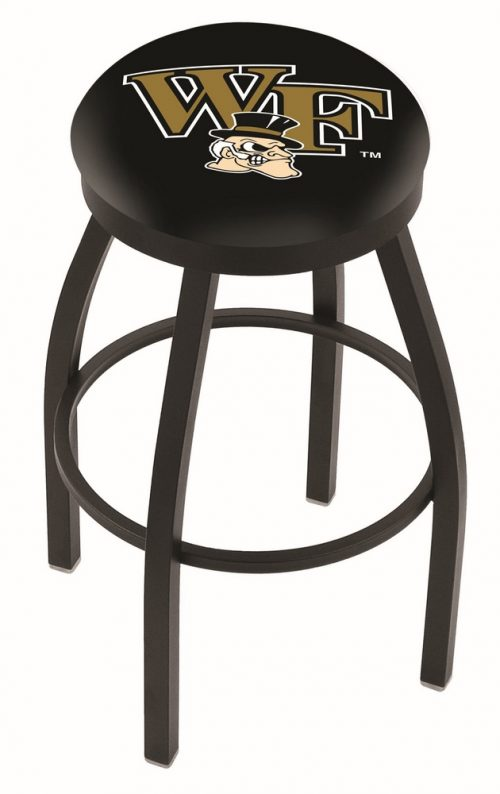 "Wake Forest Demon Deacons (L8B2B) 25"" Tall Logo Bar Stool by Holland Bar Stool Company (with Single Ring Swivel Black Solid Welded Base)"