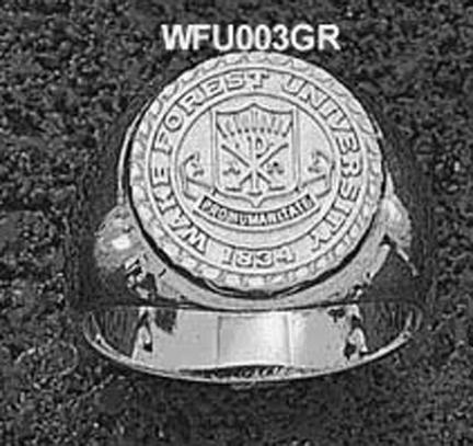 "Wake Forest Demon Deacons ""Seal"" Men's Ring Size 10 1/2 - Sterling Silver Jewelry"