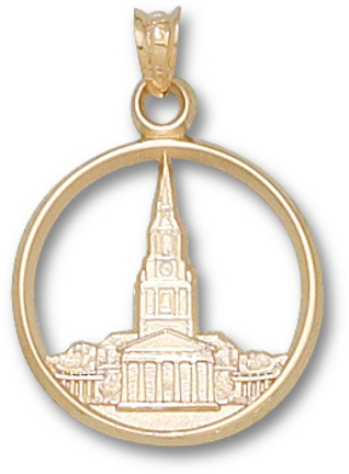 "Wake Forest Demon Deacons ""Wait Chapel"" Pendant - 10KT Gold Jewelry"