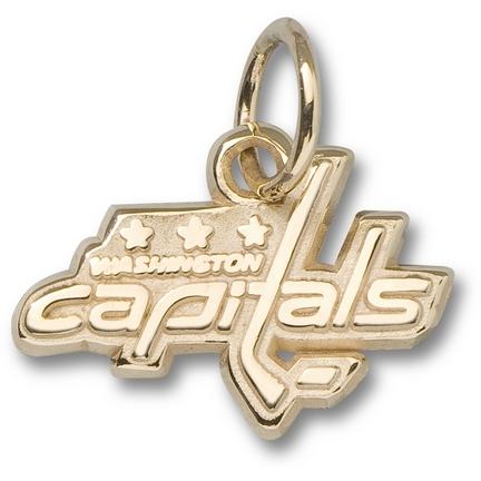 "Washington Capitals 3/8"" Logo Charm - 14KT Gold Jewelry"