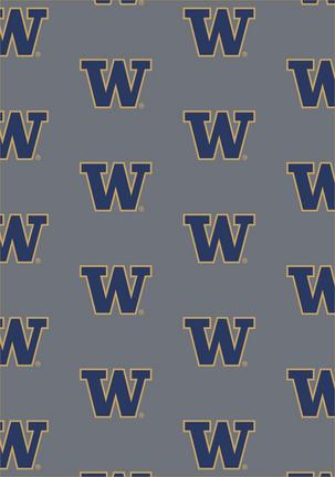 "Washington Huskies 3' 10"" x 5' 4"" Team Repeat Area Rug"
