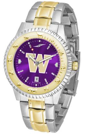 Washington Huskies Competitor AnoChrome Two Tone Watch