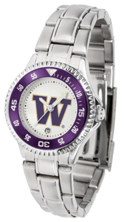Washington Huskies Competitor Ladies Watch with Steel Band