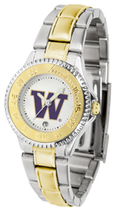 Washington Huskies Competitor Ladies Watch with Two-Tone Band