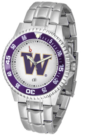 Washington Huskies Competitor Watch with a Metal Band