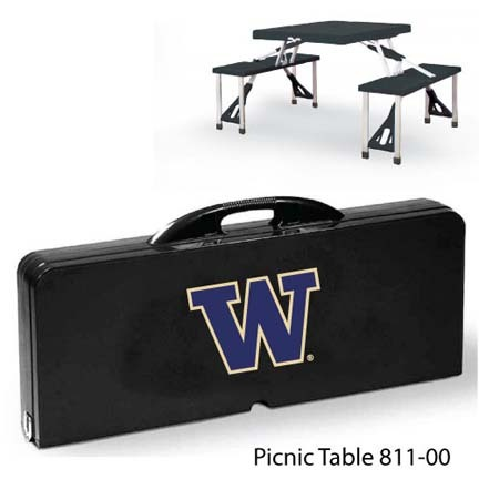 Washington Huskies Portable Folding Table and Seats
