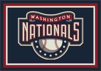 "Washington Nationals 3'10"" x 5'4"" Team Spirit Area Rug"