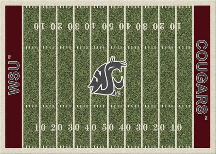 "Washington State Cougars 3' 10"" x 5' 4"" Home Field Area Rug"