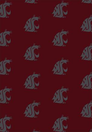 "Washington State Cougars 3' 10"" x 5' 4"" Team Repeat Area Rug"