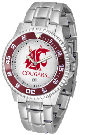 Washington State Cougars Competitor Watch with a Metal Band