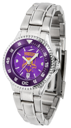 Weber State Wildcats Competitor AnoChrome Ladies Watch with Steel Band and Colored Bezel