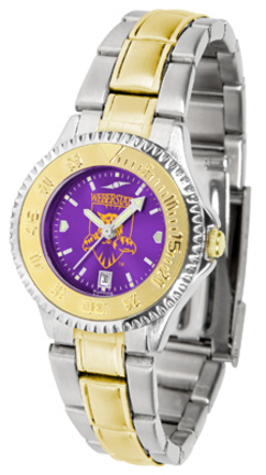 Weber State Wildcats Competitor AnoChrome Ladies Watch with Two-Tone Band